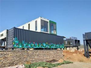 prefab luxury shipping container house for shopping mall in the hills