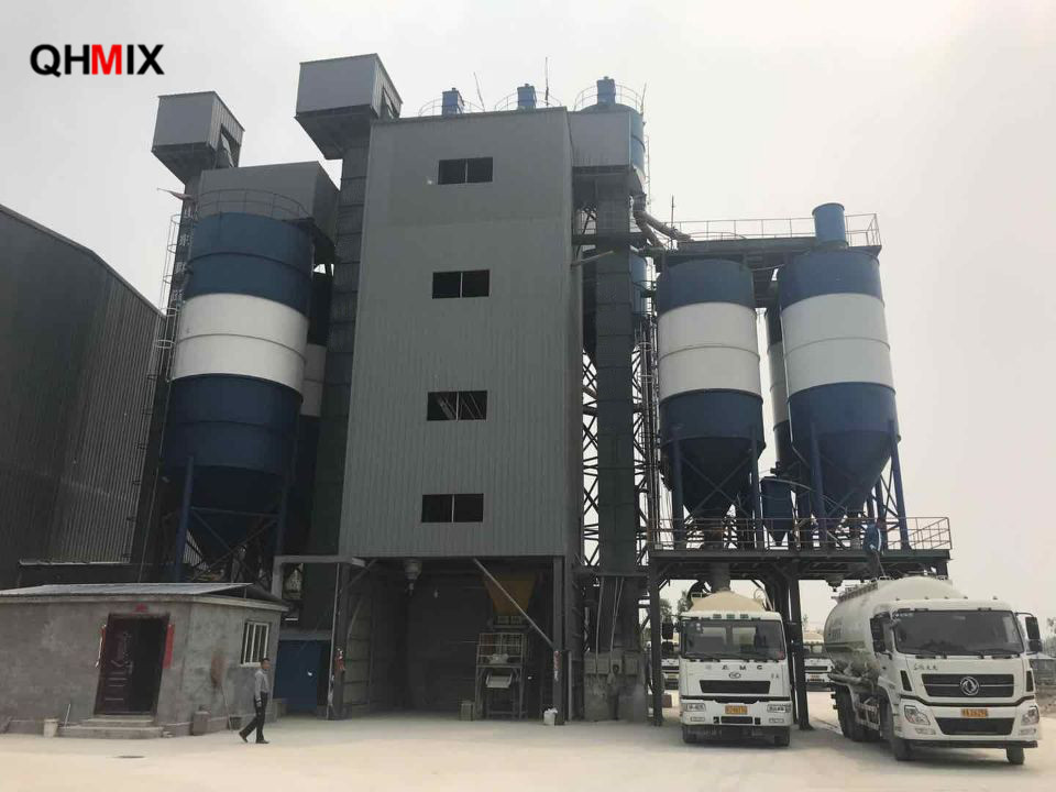 Local clients 20th full-auto dry plaster mortar plant