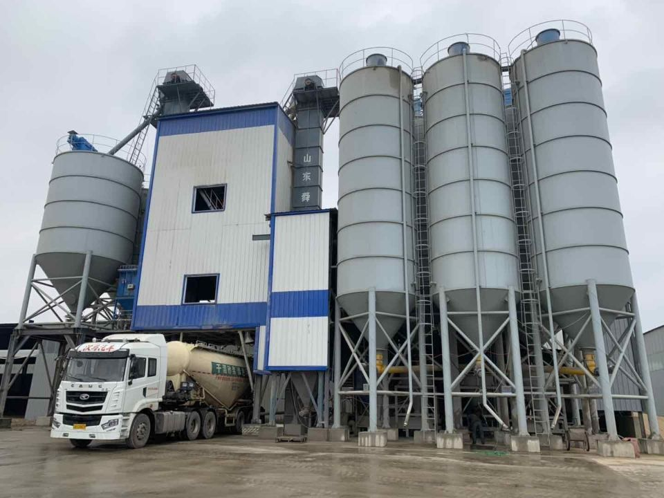 Full-Auto 20th Mechanism Sand Dry mortar batching plant