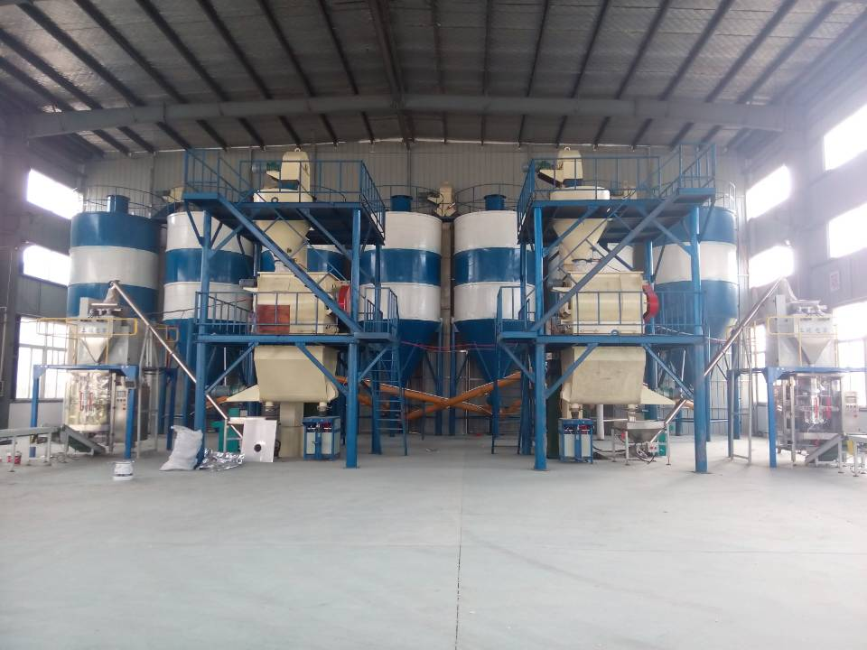 DF-40 Full-Auto 15th Tile adhesive  mortar mixer plant