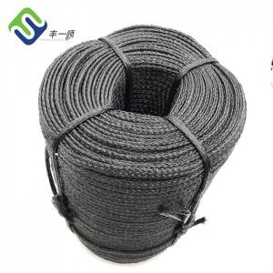 3/8″ Black Color Polyethylene PE Hollow Braided Rope With UV Protection