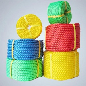 3 Strands Twisted Polypropylene Rope With Customized Diameter