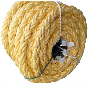 Colored 8 Strands Braided mooring rope with high strength
