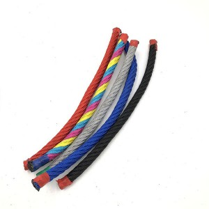 6 strand Polyester combination rope for playground