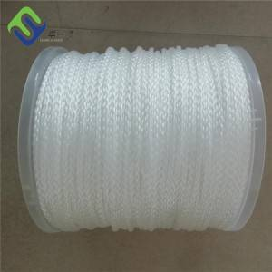 White Color 8 Strands Hollow Braided Polyhethylene Rope 1/4″x600ft Hot Sale