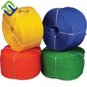 6mm  4 strand  twist High Density Polyethylene PE packing rope