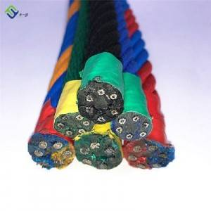 Colored PP and Polyester 6-strands combination rope for playground