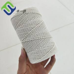 2mm 200m Soft White 100% Pure Cotton Rope for Decoration