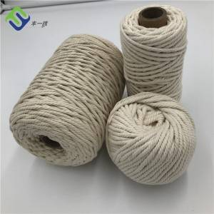 3mm 4mm 5mm Macrame Natural Cotton Rope for Decoration