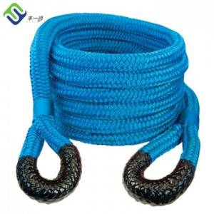 Blue Color Nylon Recovery Towing Rope 25mm With Protection Sleeve