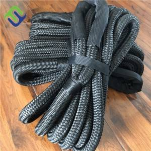 Black 1″ x 30′ Kinetic Vehicle Recovery Tow Rope With High Strength