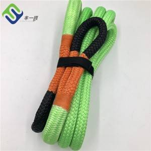 Double braided nylon66 kinetic stretch tow recovery vehicle  rope