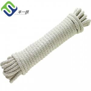 8mm Natural Color Solid Braided Pure Cotton Rope