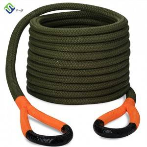 22mm black double braided Nylon tow rope