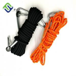 3-Strand Twisted Nylon Rope Rock 12mm Climbing Rope Gym