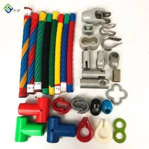 16mm 6 strand PP/Polyester Combination Playground Rope Accessory