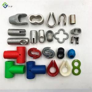 16mm steel core combination PP Playground Rainbow Rope and Connectors