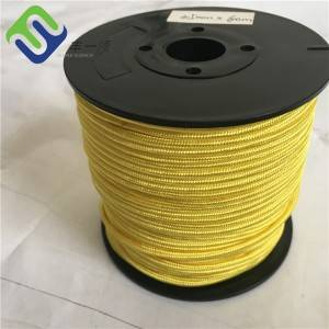 Yellow Color Camera and Video Line UHMWPE Rope 2.5mm With High Strength