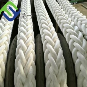 60mm White 12 strand Polyester rope for marine