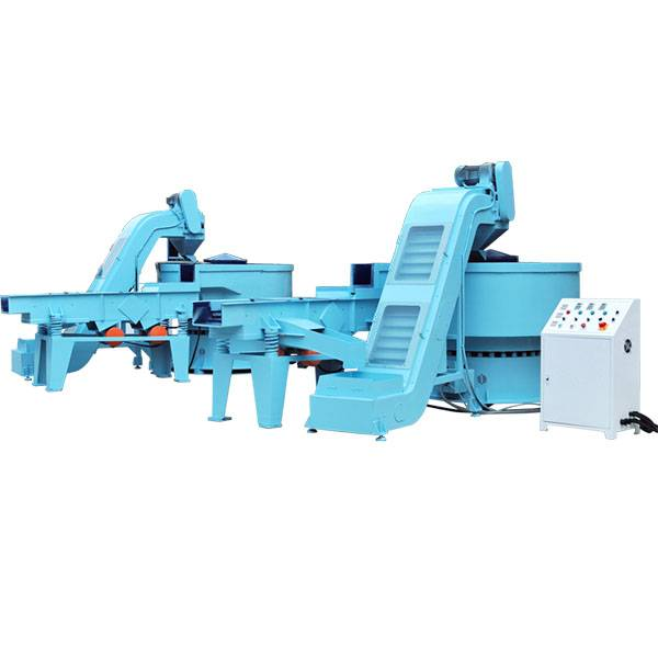 Manufacturer of Magnetic Polishing Deburring Cleaning Machine  Automatic Vibratory Finishing Machine w loading + Separator + Unloading Featured Image