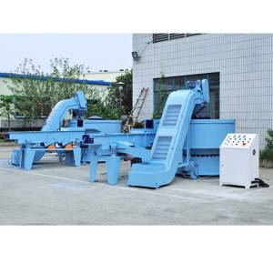 Manufacturer of Magnetic Polishing Deburring Cleaning Machine  Automatic Vibratory Finishing Machine w loading + Separator + Unloading