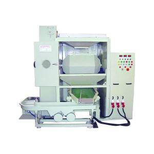 Automatic Rotary Barrel Finishing Machine W Loading + Separator + Unloding