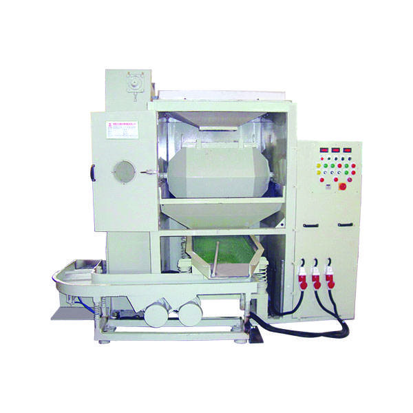 Manufacturer of Magnetic Polishing Deburring Cleaning Machine  Automatic Rotary Barrel Finishing Machine W Loading + Separator + Unloding Featured Image