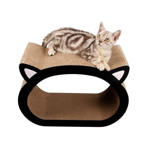 Steel Sheet Corrugated Cardboard Cat Scratcher - Cat Head Cat Scratcher Fat Cat Bed Cardboard Toys – Loyi