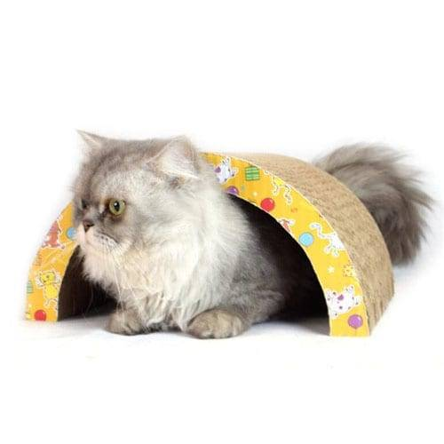 DIY Cat Jostailuak Zubia Formaren Cat Corrugated