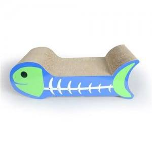 Corrugated Cardboard Fish Bone Cat Scratcher Bed