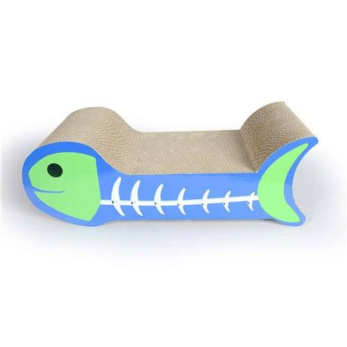 Matt Pre-Painted Steel Cat Scratch Furniture - Corrugated Cardboard Fish Bone Cat Scratcher Bed – Loyi