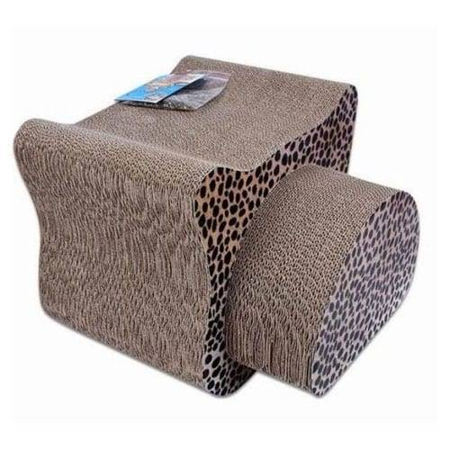 Tin-Plate Steel Sheet Cardboard Cat Scratcher Lounge - Cardboard Cat Scratcher Pet Toy Pet Bed – Loyi detail pictures