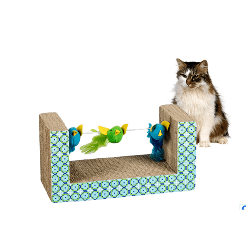 China Factory Cat Scratching   with bird toy Featured Image