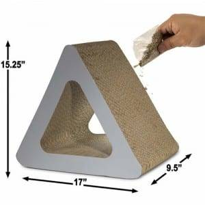 Aluzinc Roofing Sheet Massager Cardboard Cat Scratcher - 3 Sided Vertical Cat Scratcher Post Different Cardboard Sctnip – Loyi