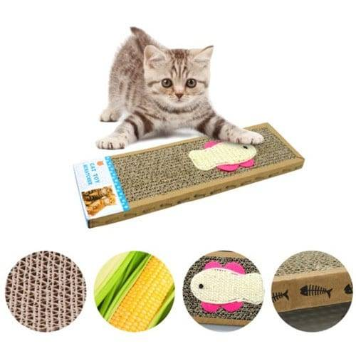 Corrugated Ppaz Steel Wooden Cat Tower - High Quality Scratch Pad Hot Selling Cat Toys Scratcher Cardboard05 – Loyi