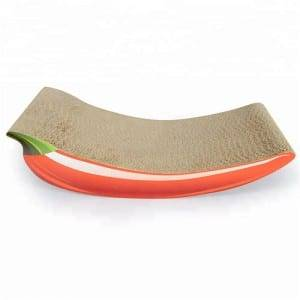 Corrugated Color Coated Steel Plate Round Corrugated Cardboard Cat Scratcher - Corrugated Cardboard Cat Scratching Pad – Loyi