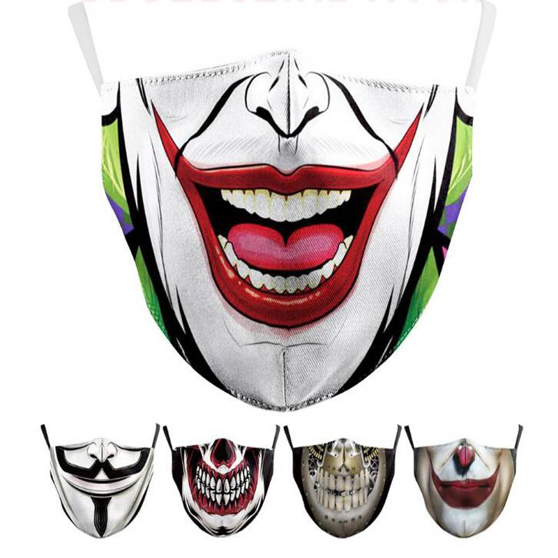 Digital printed protective masks with filter elements to prevent dust