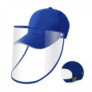 5 panel custom snapback baseball caps sports Face protective Cap With Shield cover bucket face shileld hat kids teen hat