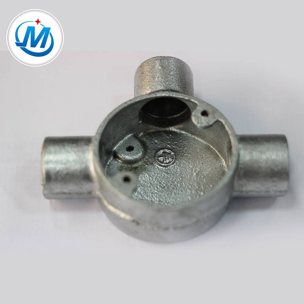 BV Certification 100% təzyiq Test Malleable Iron Metal Conduit Junction Box