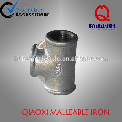 class 150 and 300 No. 130 tee malleable cast iron pipe fitting