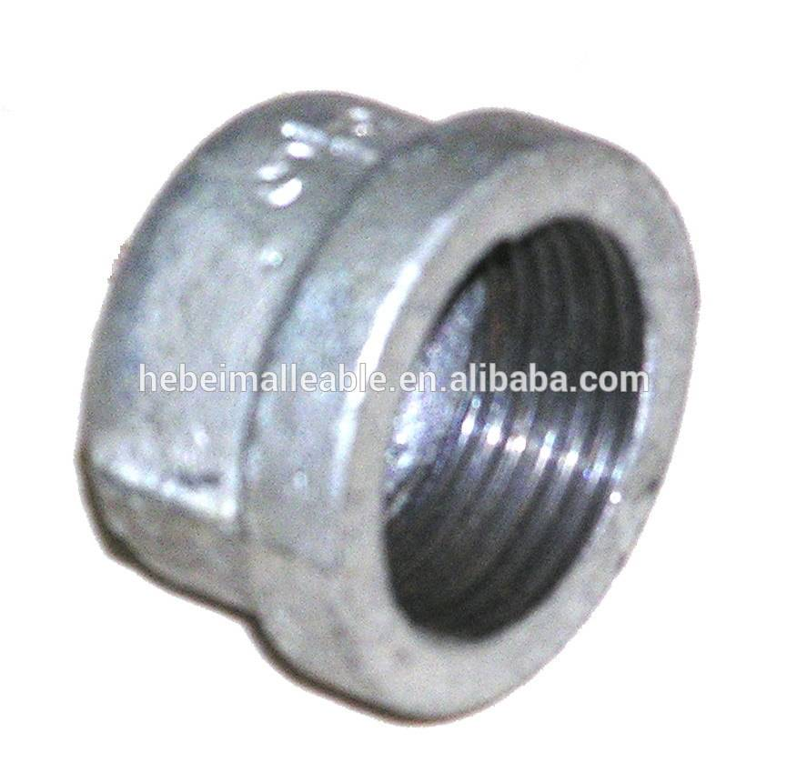 galvanized ductile iron water pipe compression bellmouth pipe fitting cap