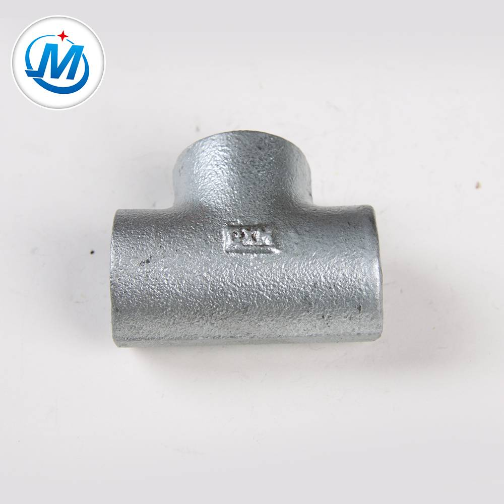 working preddure 1.6Mpa malleable iron pipe fitting plain tee