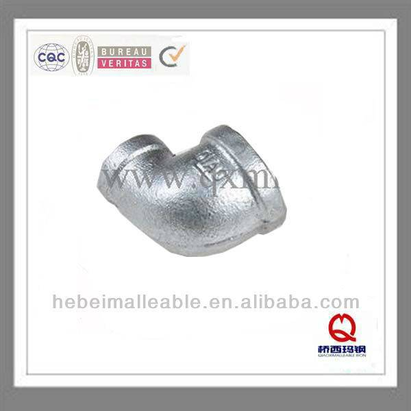 "1-1 / 2 ""DIN banded malambot cast iron pipe agpang thread pagbabawas elbow"