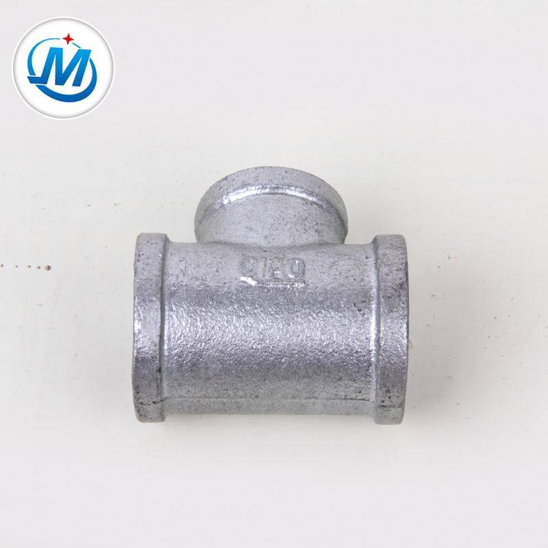Strong Production Capacity Malleable Pipe Fitting GI Surface Threaded Equal Tee