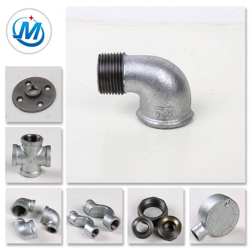 Different Types Metal Casting Iron Part Threaded Fitting