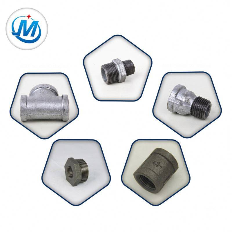 Din Thread Water And Gas Cross Malleable Iron Pipe Fittings