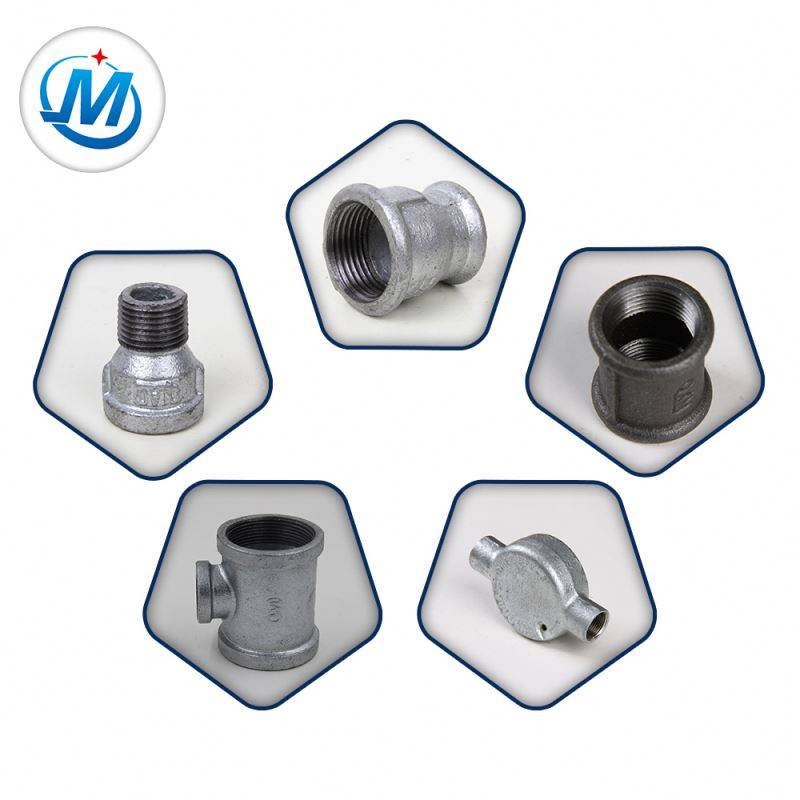 ISO 9001 Certification Quality Controling Strictly British Standard Malleable Iron Water Supply Pipe Fittings