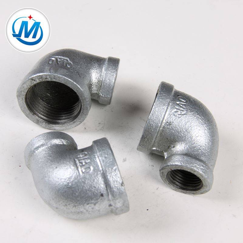 Chinese Galvanized Surface Malleable Iron Pipe And Pipe Fittings 90 Degree Reducer Elbow