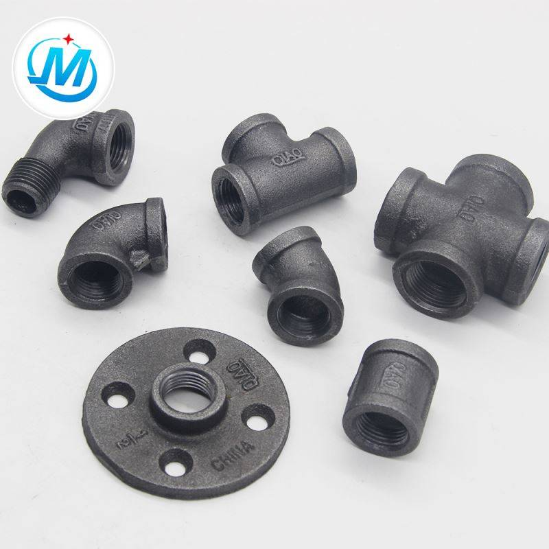 galvanized BS thread malleable iron pipe fittings