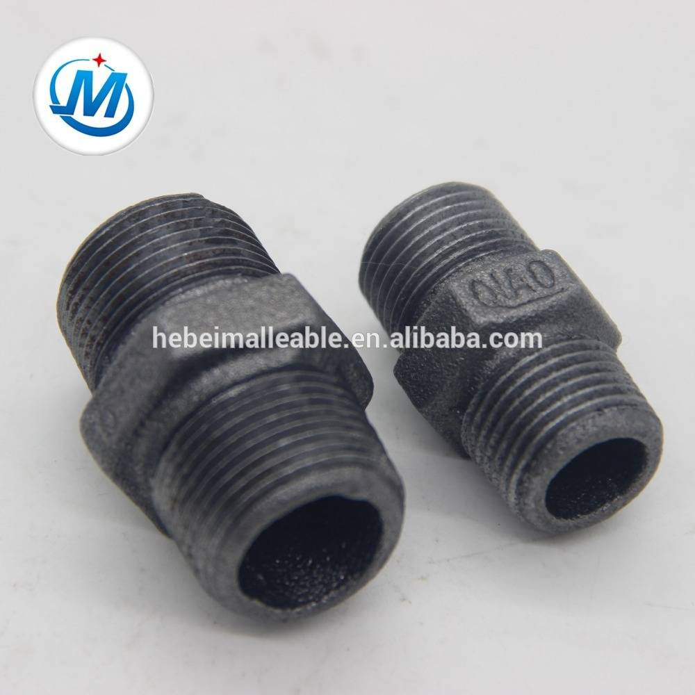 pvc pipe hexagon nipple line plastic nipple